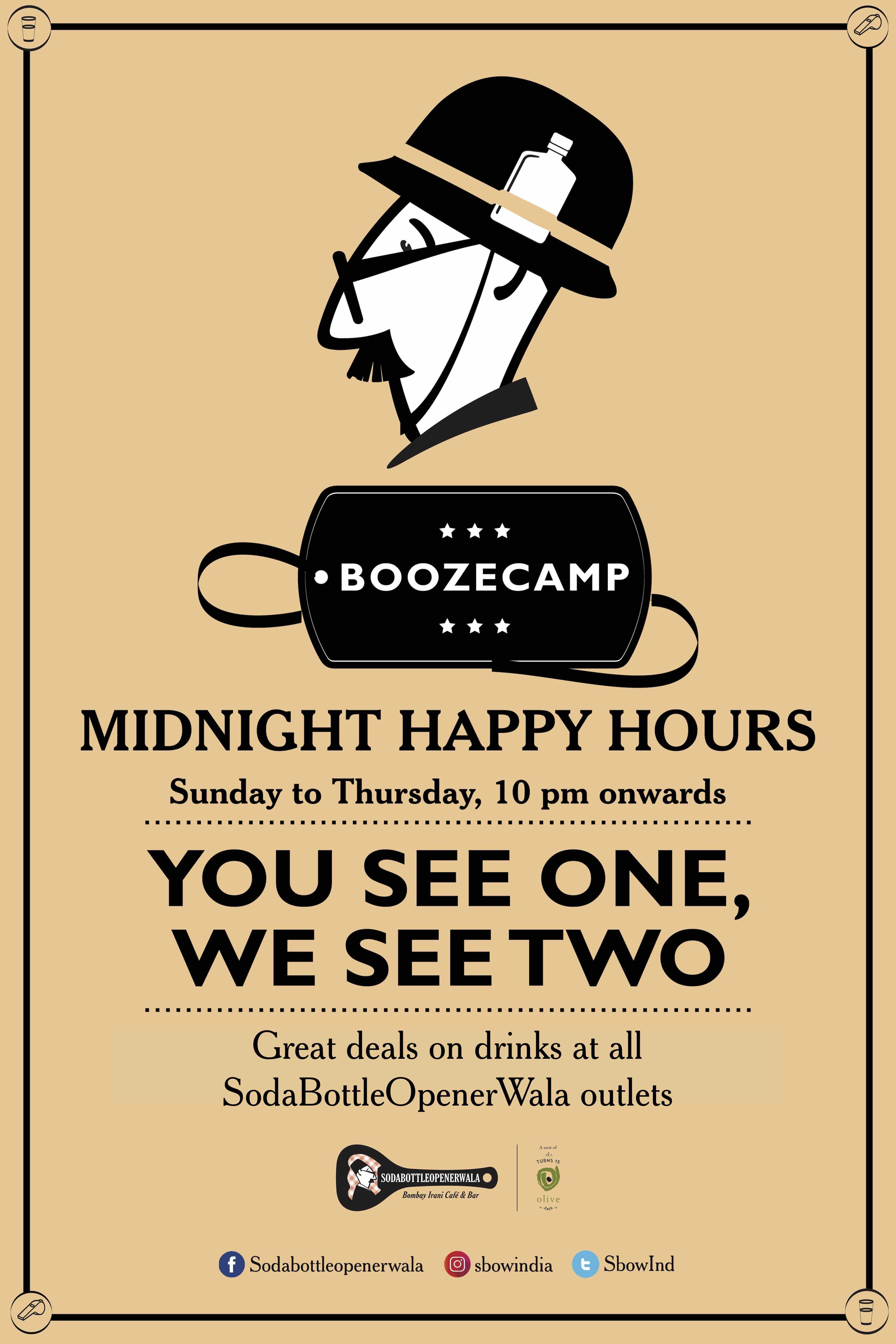 Midnigh Happy Hours at SodaBottleOpenerWala